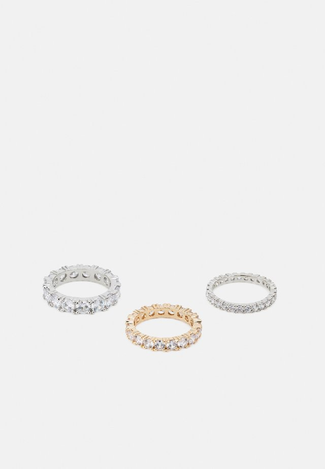 3 PACK - Anello - silver-coloured/gold-coloured
