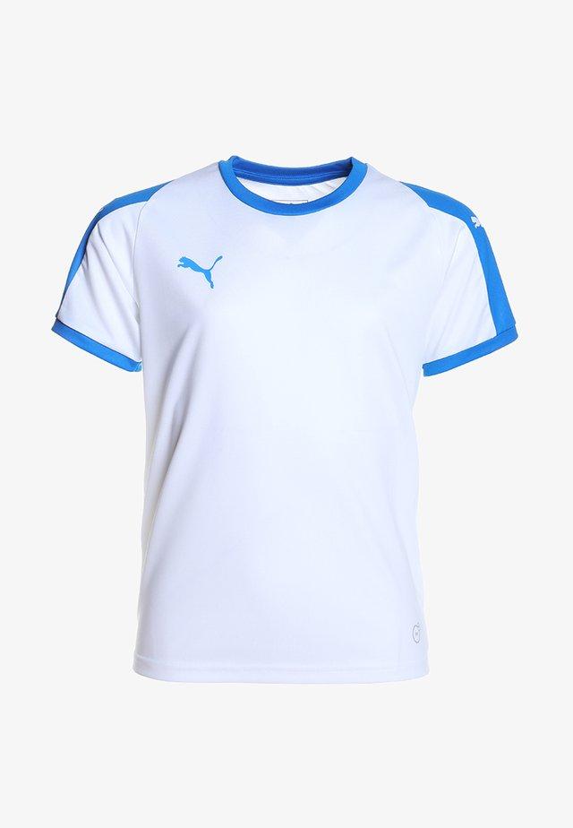 LIGA  - Funkční triko - white/electric blue