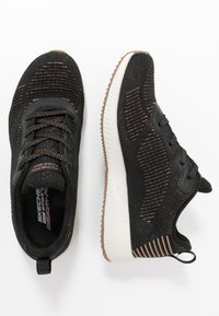 Skechers Sport - BOBS SQUAD - Trainers - black/rose gold - 3