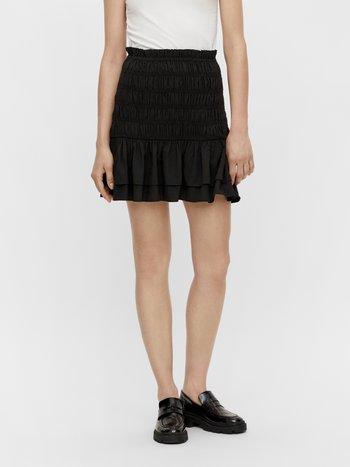 ROCK GESMOKT - A-line skirt - black