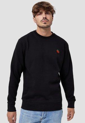 CREW NECK ERDBEERE - Sweater - schwarz