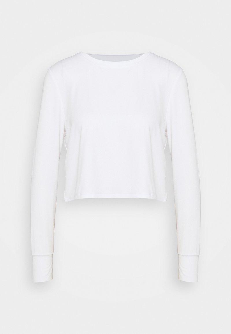 Cotton On Body - CROSS BACK LONG SLEEVE - Long sleeved top - white