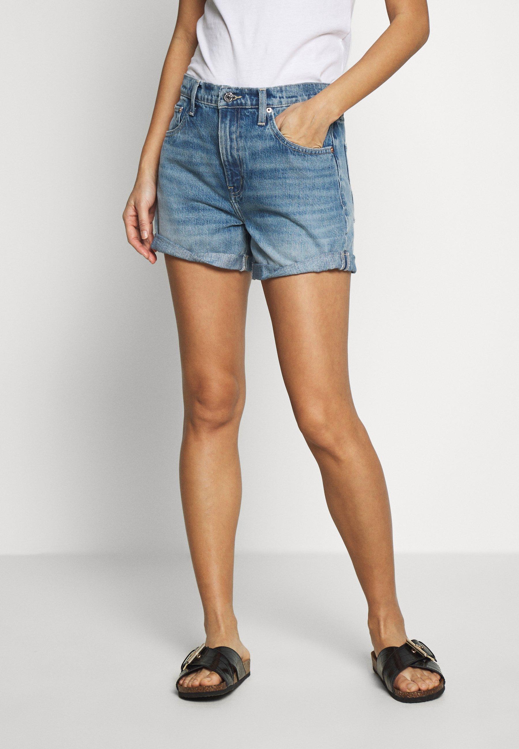 Limit Discount Women's Clothing Ética SKYLAR TWIST Denim shorts blue denim F7Q8bh3ki