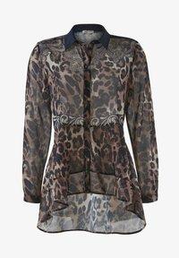 Alba Moda - Button-down blouse - marineblau beige - 5