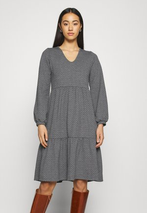 ONLGRACE DRESS - Jersey dress - dark grey melange/black