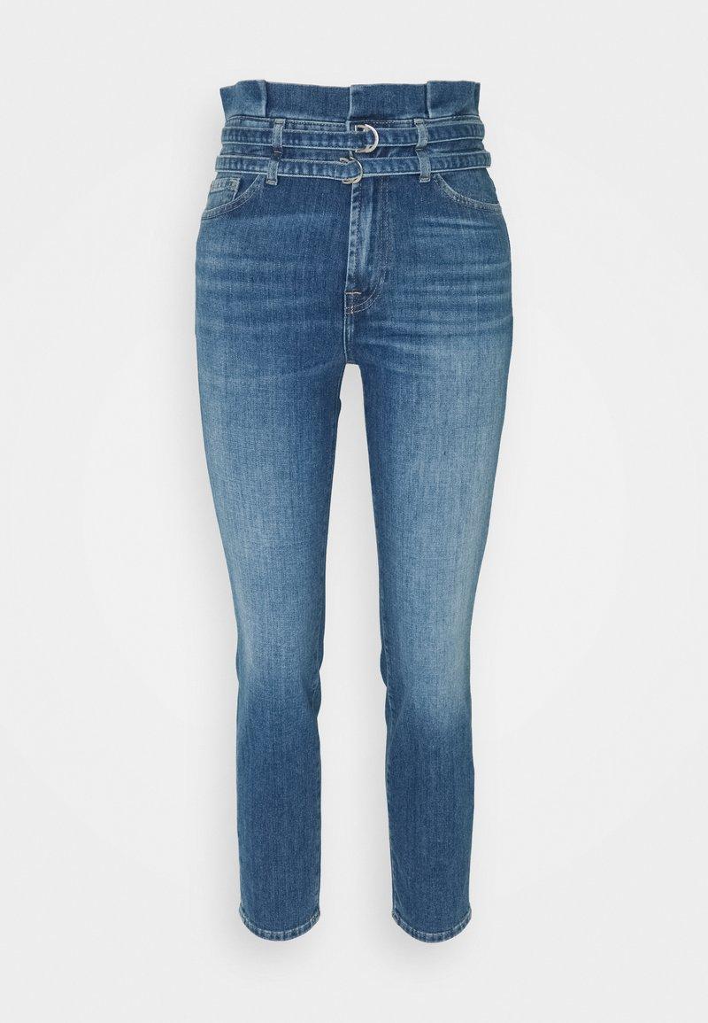 7 for all mankind - PAPERBAG PANT LEFHANRES - Slim fit jeans - mid blue