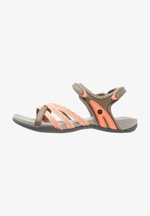 SAVANNA II  - Walking sandals - taupe/peach