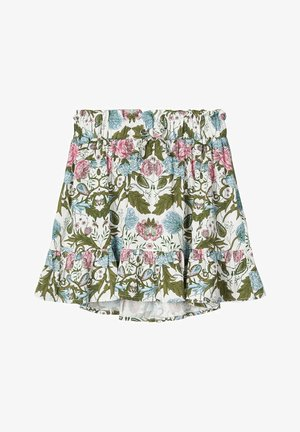NAME IT ROCK BLUMENPRINT - A-line skirt - snow white
