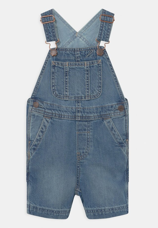 TODDLER BOY SHORTALL - Ogrodniczki - blue denim
