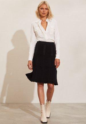 JULIA - A-line skirt - almost black