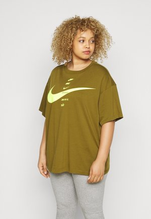 Print T-shirt - olive flak