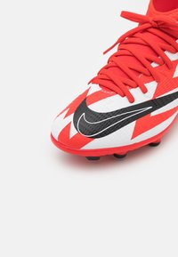 Nike Performance - MERCURIAL JR 8 CLUB CR7 FG/MG UNISEX - Kopačky lisovky - chile red/black/white/total orange - 5