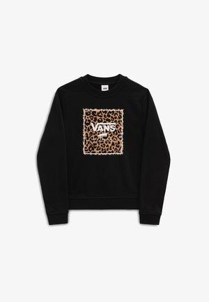 GR LEOPARD BOX CREW - Sweatshirt - black