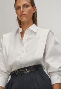 Massimo Dutti - POPELIN - Button-down blouse - white - 4