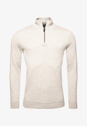 MERINO HENLEY - Fleece jumper - cloud grey marl