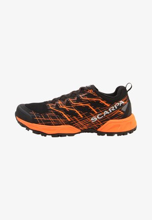 NEUTRON 2 - Trail running shoes - black/orange