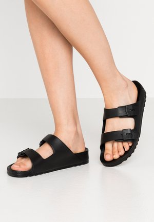 BAHIA - Sandalias planas - black