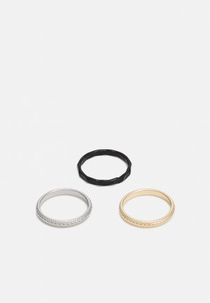 3 PACK - Ring - gold-coloured/silver-coloured/black