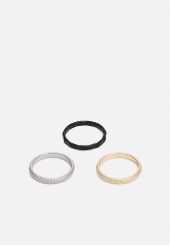 3 PACK - Ringar - gold-coloured/silver-coloured/black