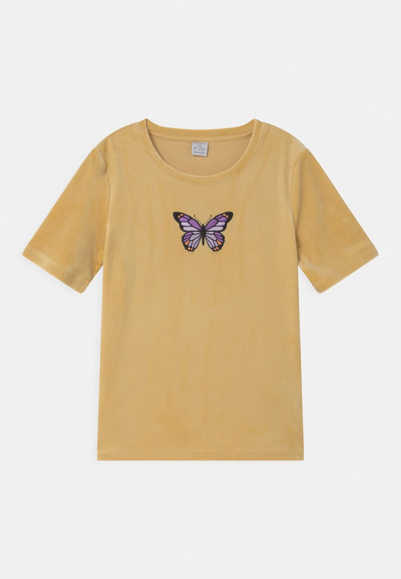 Lindex - VIOLA - Print T-shirt - light dusty yellow