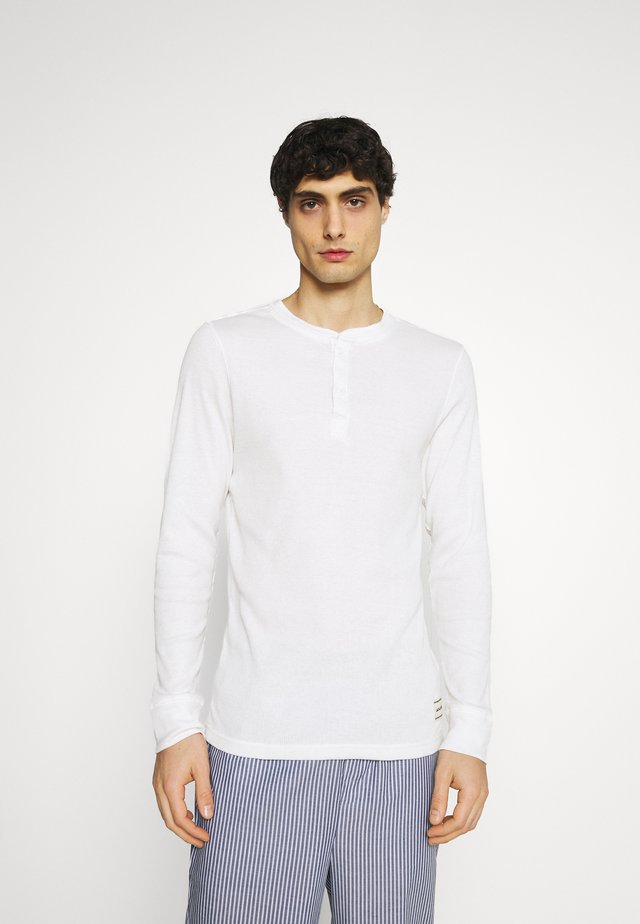 JACWOVENPANTS - Pyjama set - light grey melange/blanc de blanc