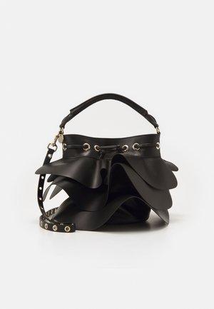 ROCK RUFFLE BUCKET SHOULDER - Handbag - black