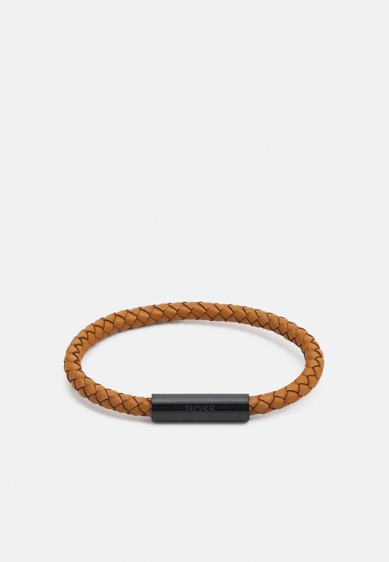 BOSS - BRAIDED - Bracelet - light brown