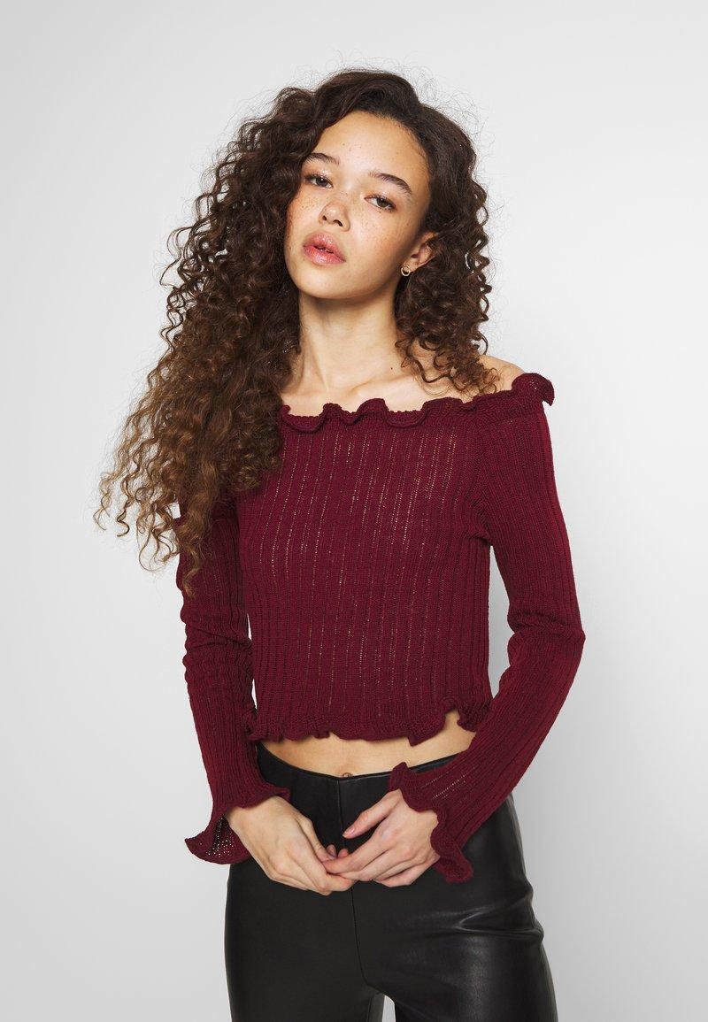 Glamorous Petite - EXCLUSIVE BARDOT - Strickpullover - dark red
