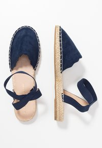 Dorothy Perkins - COURTNEY ELASTIC BACK SCALLOP - Espadrilky - navy - 3