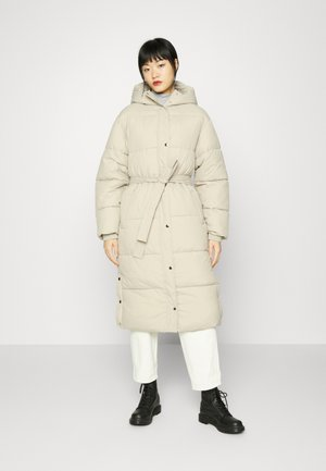 LONG PUFFER COAT - Winter coat - beige