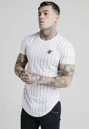 PINSTRIPE TEE - Camiseta estampada - white