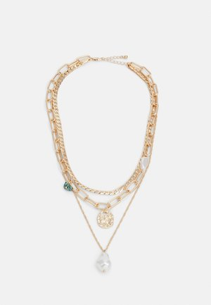 PCACACIE COMBI NECKLACE - Necklace - gold color-coloured