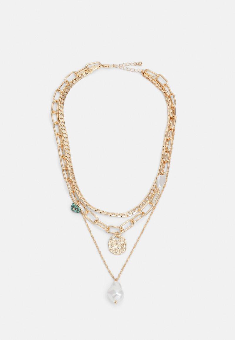 Pieces - PCACACIE COMBI NECKLACE - Necklace - gold color-coloured