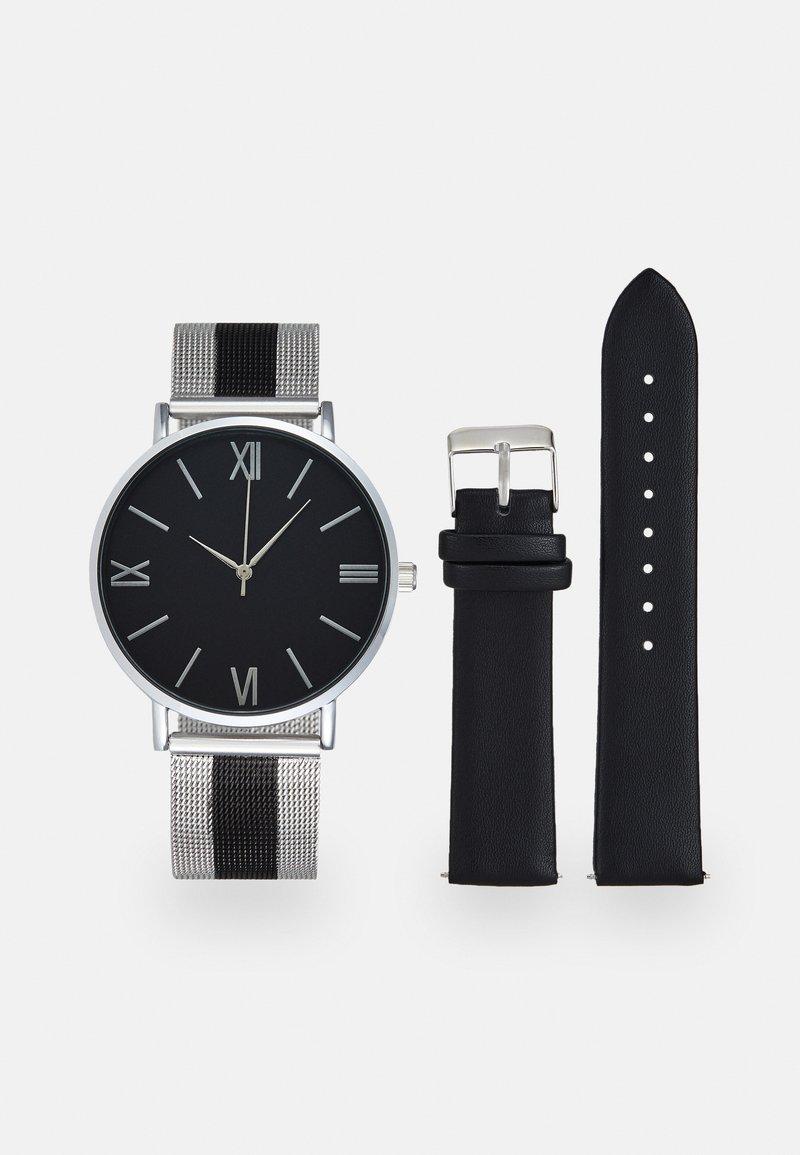 Pier One - SET - Klokke - silver-coloured/black