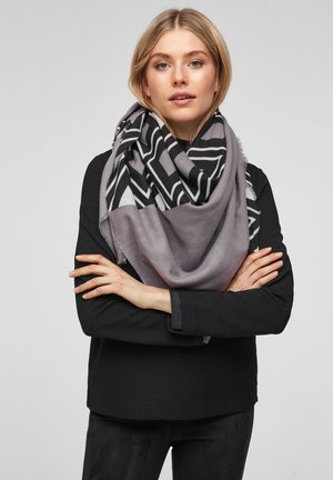 SOFTES MIT MUSTER - Foulard - grey placed print