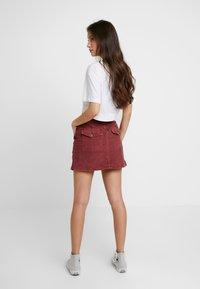 American Eagle - ALINE SKIRT - Mini skirt - berry - 2