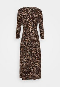Dorothy Perkins Petite - ANIMAL EMPIRE SEAM MIDI DRESS - Jersey dress - black - 1