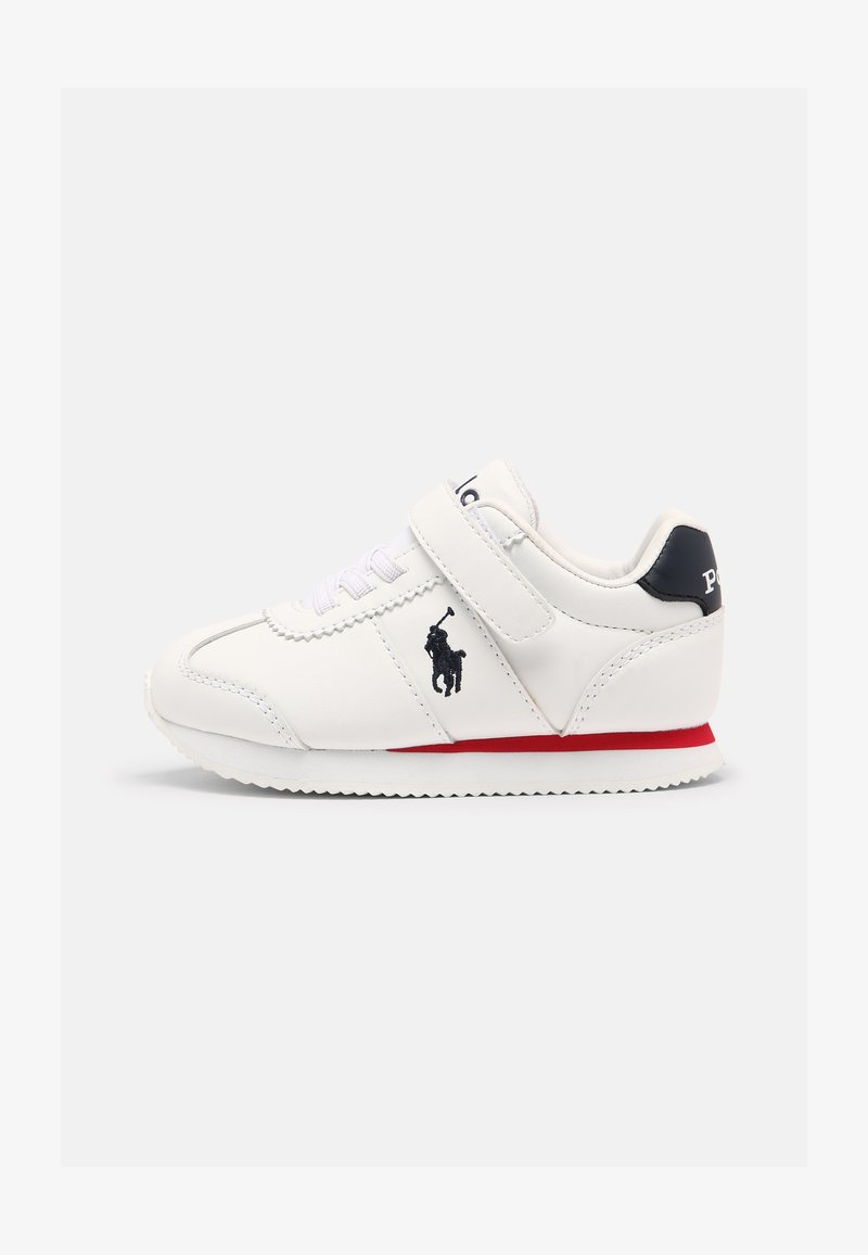 Polo Ralph Lauren - PONY JOGGER UNISEX - Trainers - white smooth / navy
