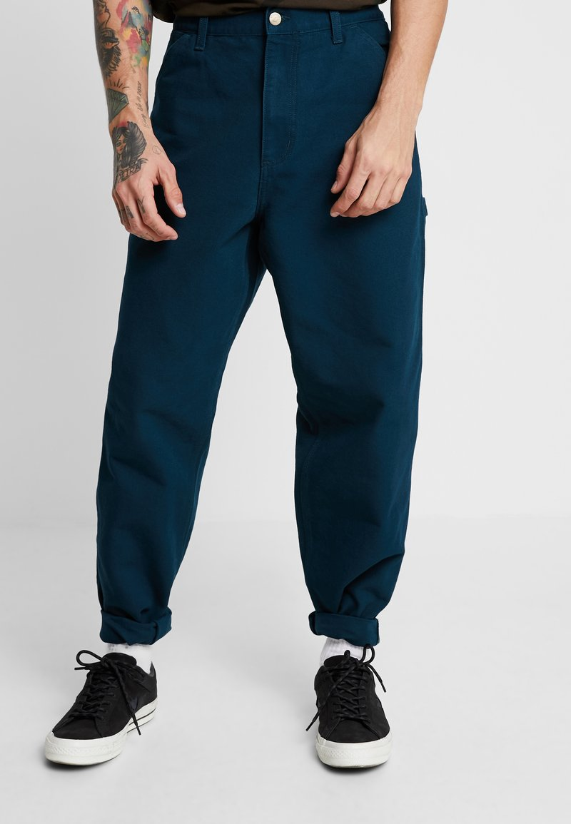 Carhartt WIP - SINGLE KNEE PANT DEARBORN - Jeans Straight Leg - duck blue rinsed