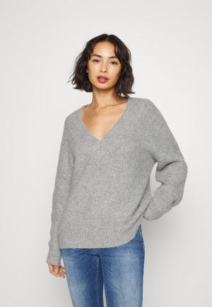 ONLZOLTE V-NECK - Trui - light grey