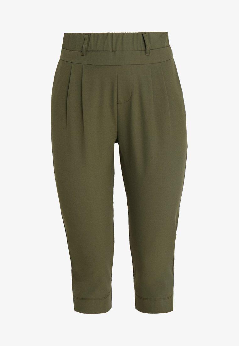 Kaffe JILLIAN CAPRI PANTS - Shorts - light grey melange/hellgrau-meliert GdZuHM