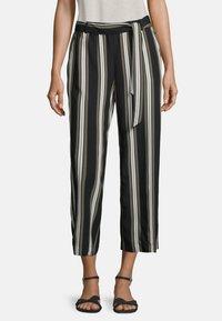 Betty & Co - MIT STREIFEN - Trousers - khaki/schwarz - 0