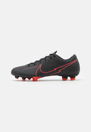 MERCURIAL VAPOR 13 ACADEMY FG/MG - Moulded stud football boots - black/dark smoke grey