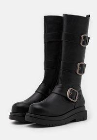 Koi Footwear - VEGAN - Platform boots - black - 1