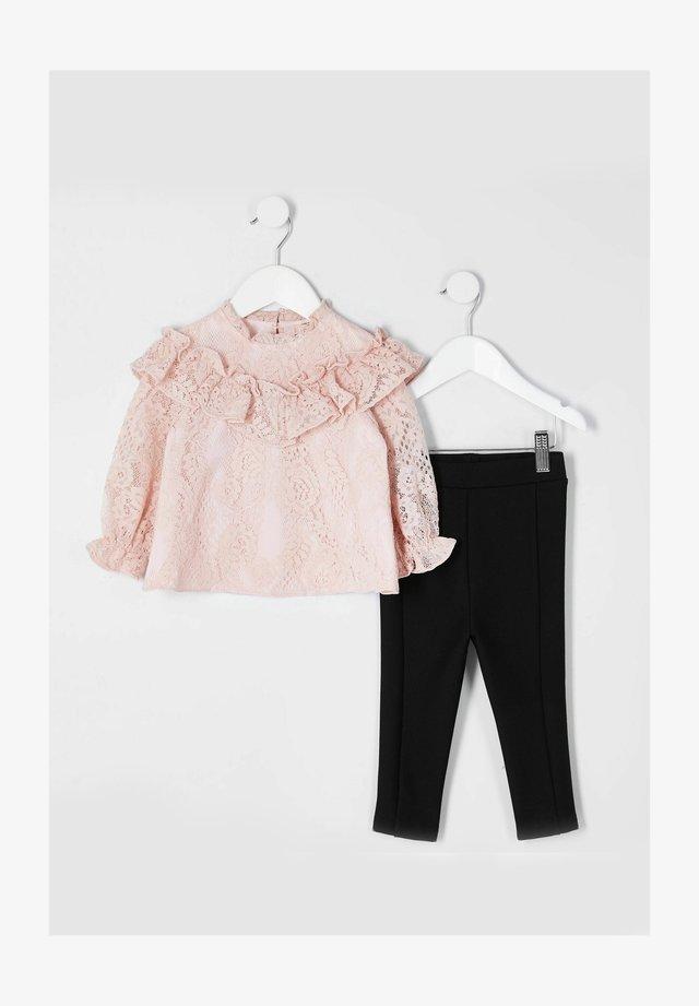2 SET - Blouse - pink