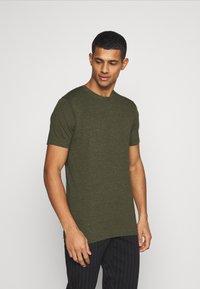 Denim Project - 5 PACK  - T-shirt - bas - olive night melange/bordeaux melange - 5