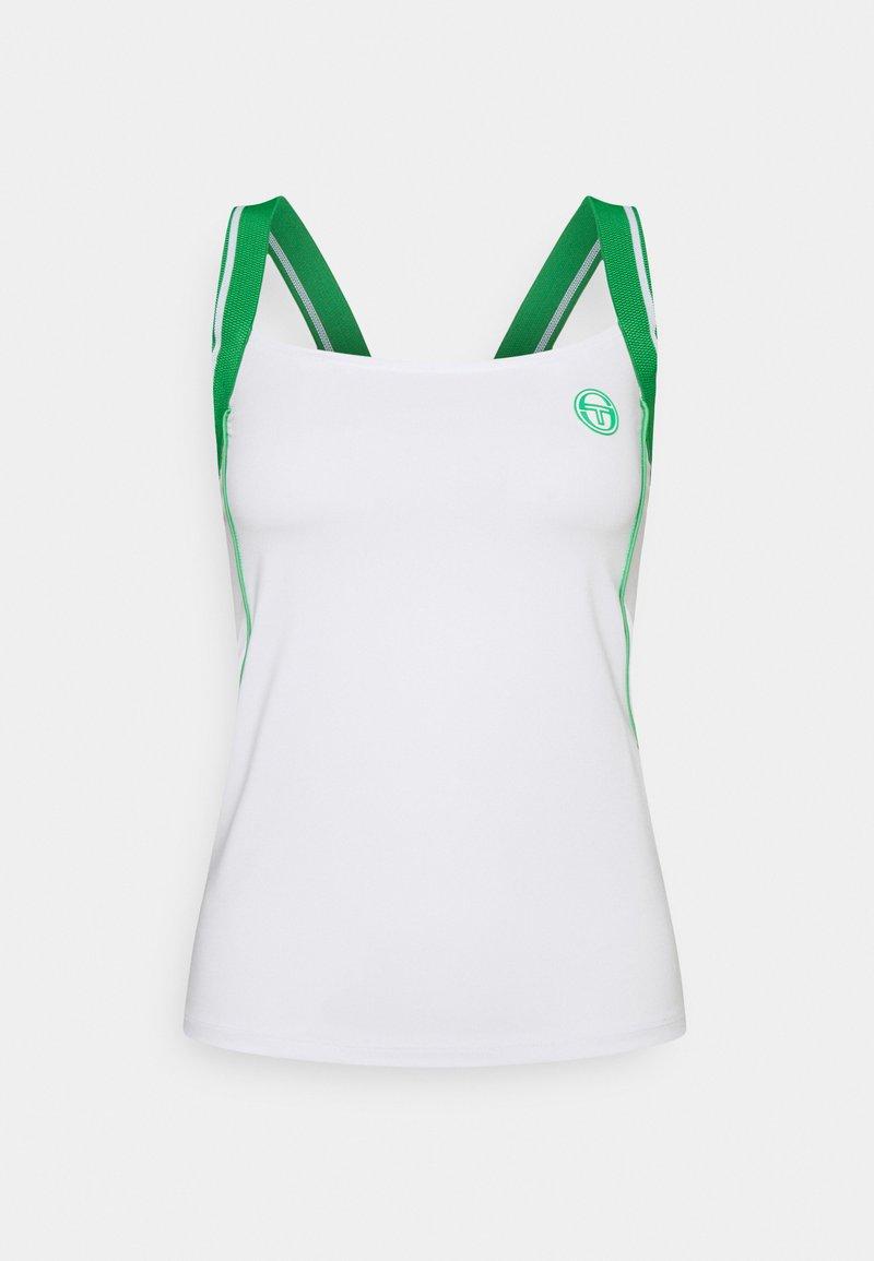Sergio Tacchini - TANK WOMAN - Top - blanc/island green