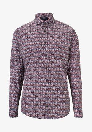 Shirt - rot/violett gemustert