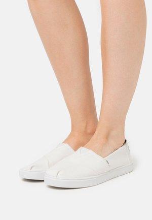 ALPARGATA CUPSOLE - Nazouvací boty - white