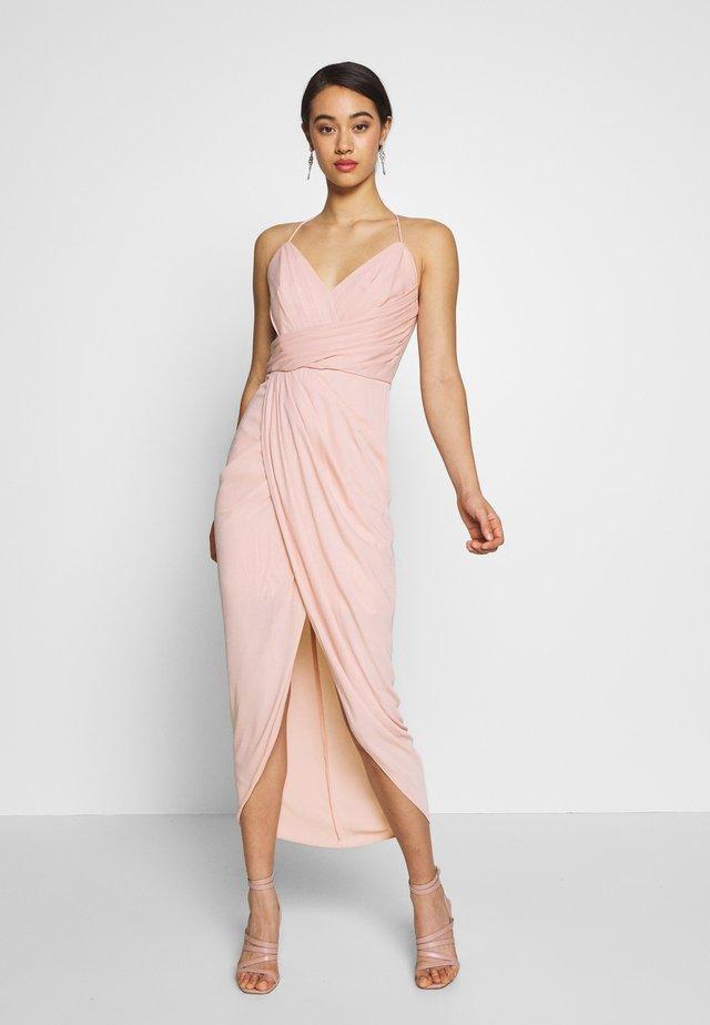 CHARLOTTE DRAPE MAXI DRESS - Robe longue - nude